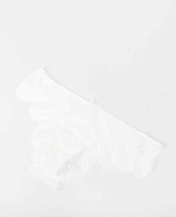 Slip in pizzo bianco sporco