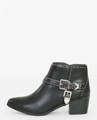 Boots à boucles noir