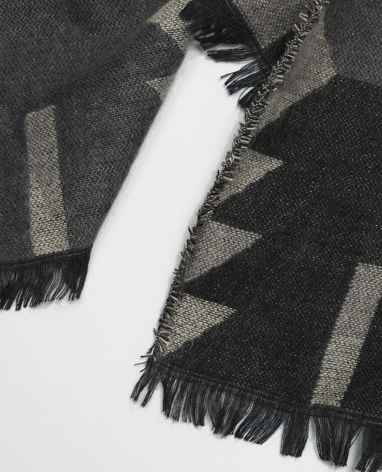 Bufanda manta étnica gris