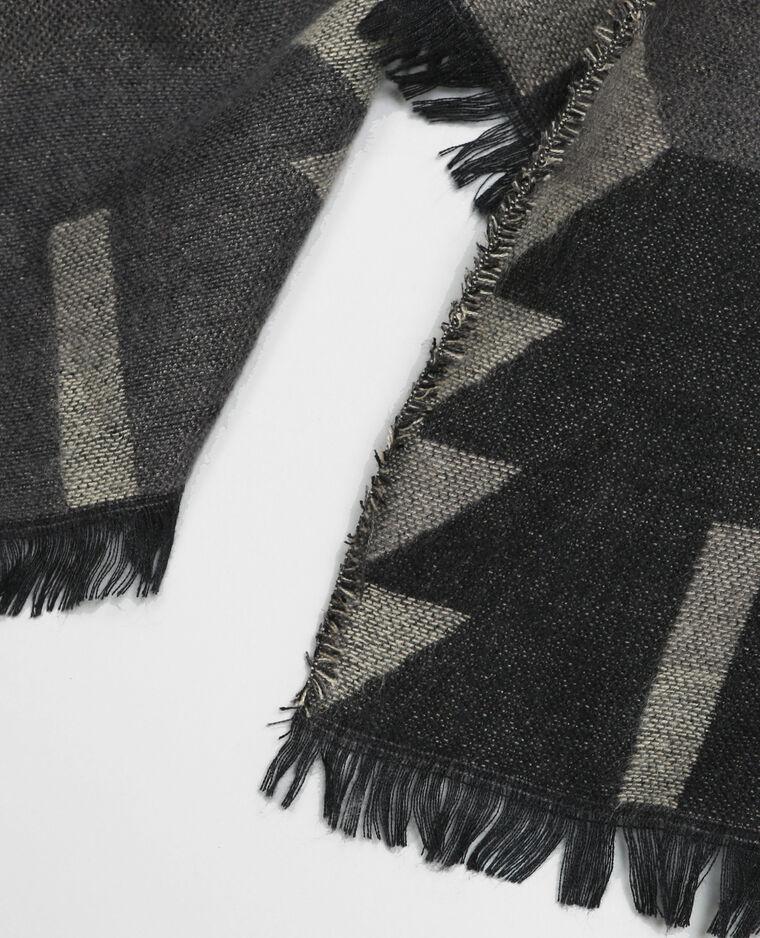echarpe plaid ethnique gris 902097803i08 pimkie. Black Bedroom Furniture Sets. Home Design Ideas