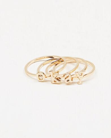 Set Ringe OKAY Gold