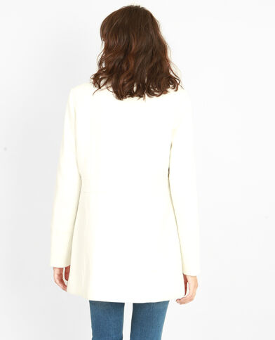 Manteau double boutonnage beige ficelle