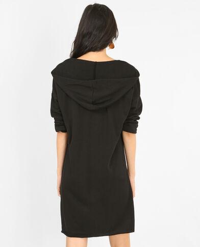 Robe pull à lacets noir