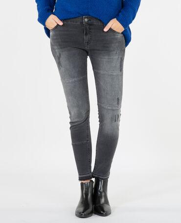 Jeans skinny délavé nero
