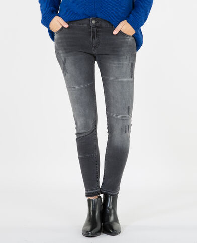 Ausgewaschene Skinny-Jeans Schwarz