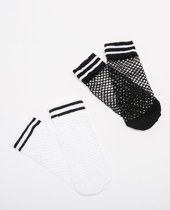 Set sokken van nettricot zwart