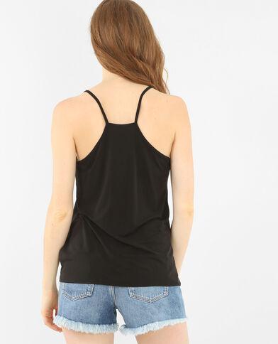Camiseta de tirantes finos negro
