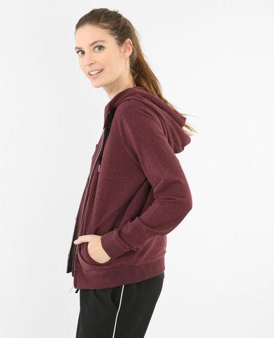 Kapuzen-Sweatshirt Bordeauxrot