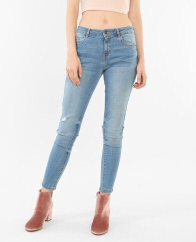 Skinny-Jeans im Destroyed-Look Blau