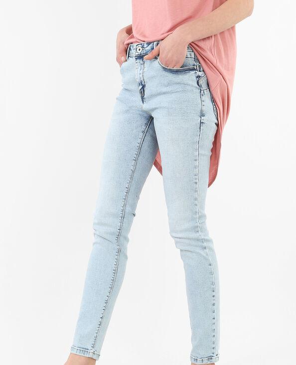 Jeans skinny push up blu chiaro