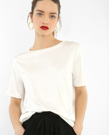 T-shirt iridata bianco