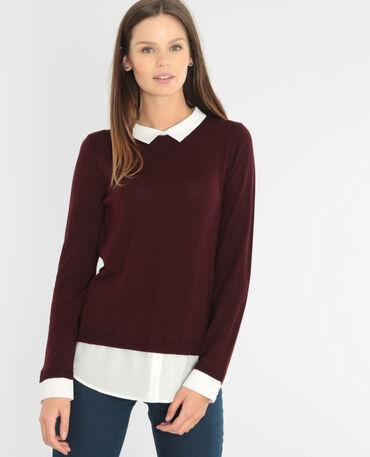 Jersey camisa burdeos