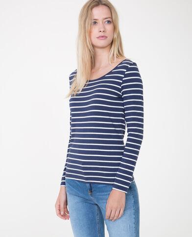 - T-shirt maniche lunghe blu marino