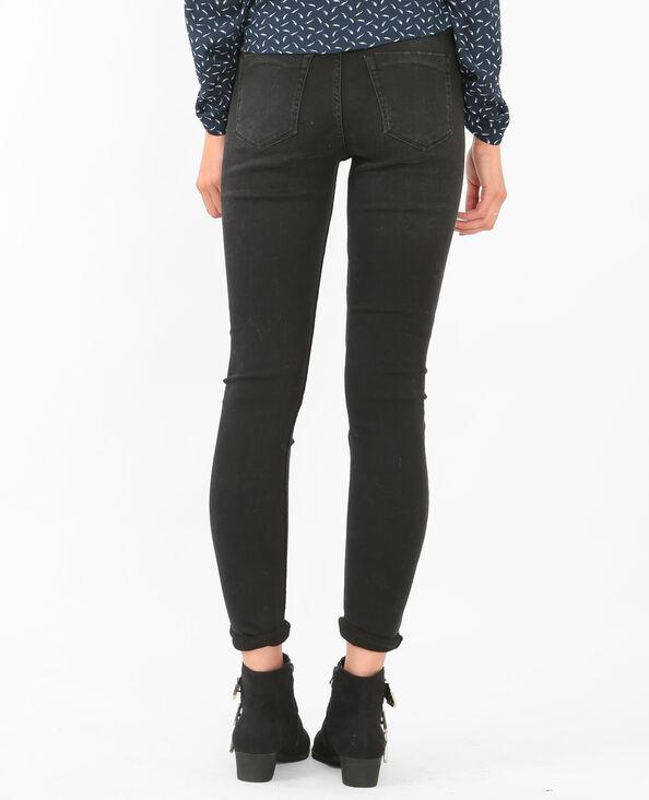 Skinny-Jeans Raw-Cut Grau