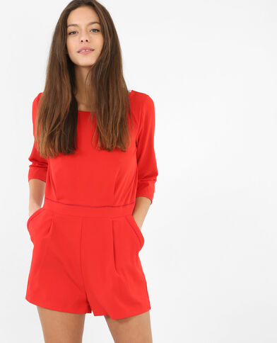 Kombi-Shorts mit V-Ausschnitt am Rücken Rot
