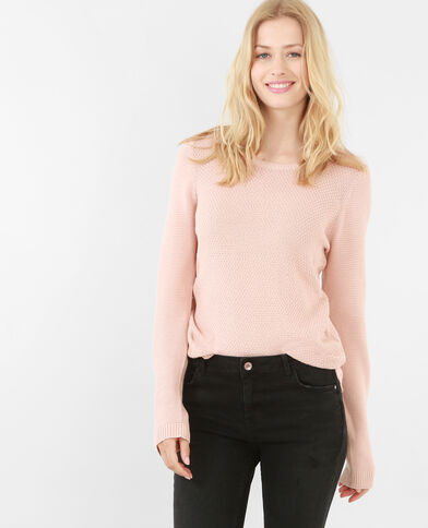 Pullover aus Mustermix Altrosa
