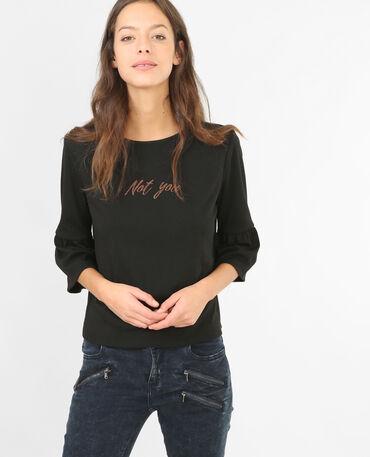 Camiseta de manga pagoda negro