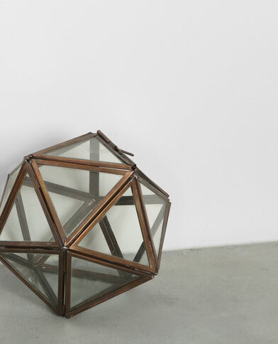 Polygon aus Glas Bronze