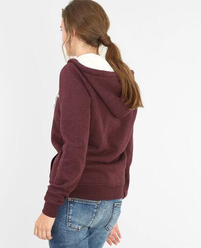 Gefüttertes Sweatshirt mit Reißverschluss Rot