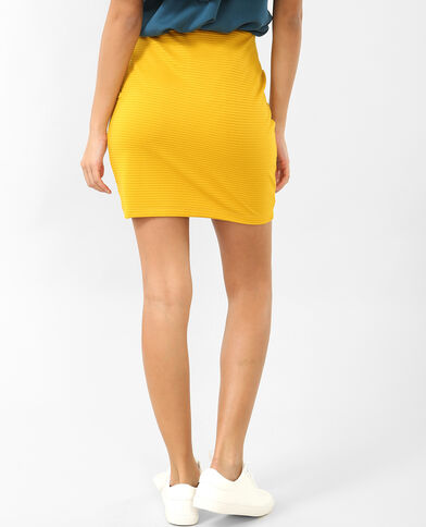 Mini jupe bodycon jaune moutarde