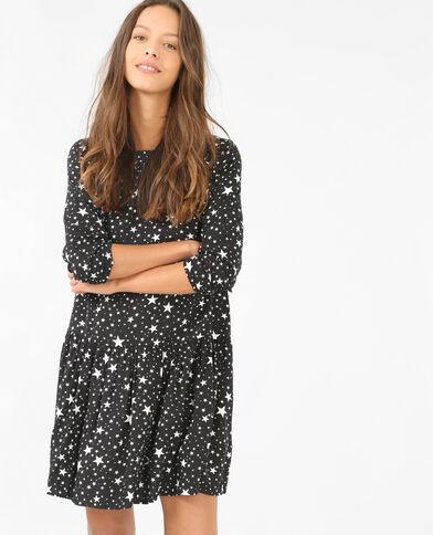 Kleid mit Sternen-Motiv Schwarz