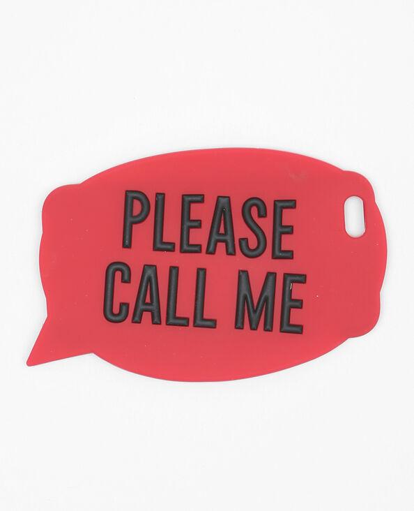 Iphone 6-hoesje met tekstballon rood