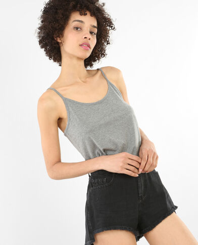 Basic Top Grau