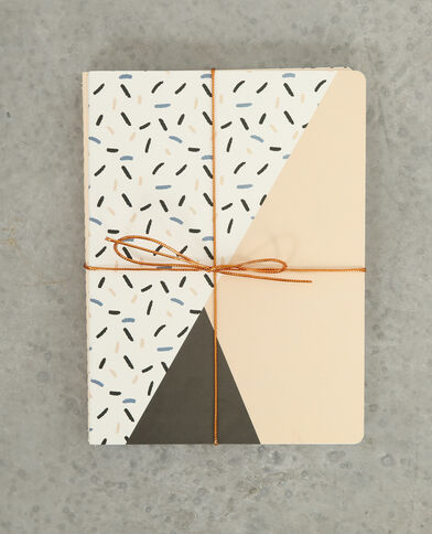 Lot de 3 notebooks rose