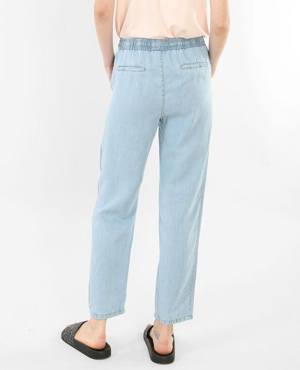 Pantalone morbido blu chiaro