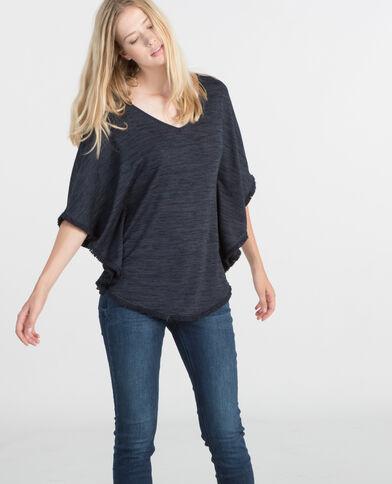 Camiseta poncho azul marino