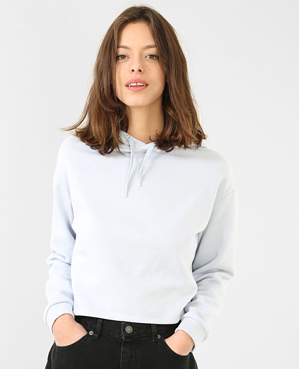 Cropped-Sweatshirt Blau