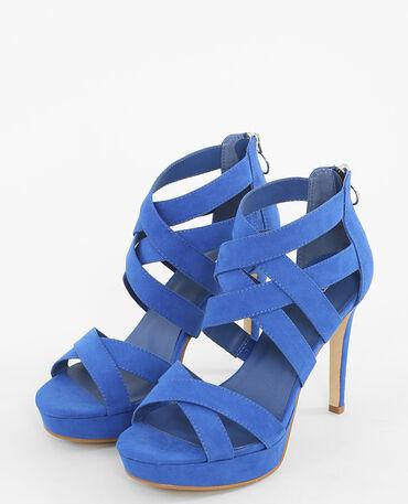 Sandales à talons hauts bleu