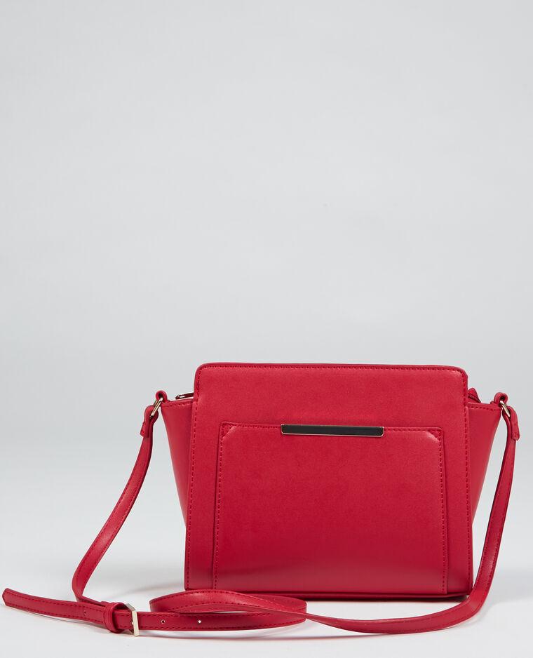 Piccola borsa a trapezio rosso