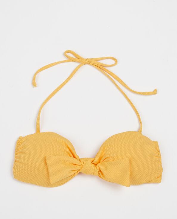 Bikinitopje met honingraat geel