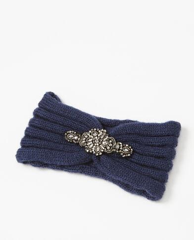 Stirnband mit Schmuckverzierung Blau
