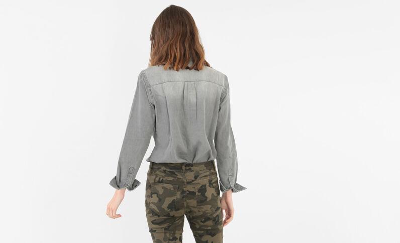 Chemise jean gris