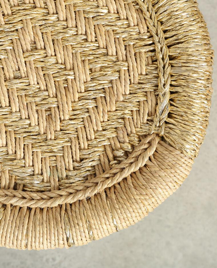 Gevlochten krukje uit bamboe beige 30 904101g06c0g - Top plastic krukje ...