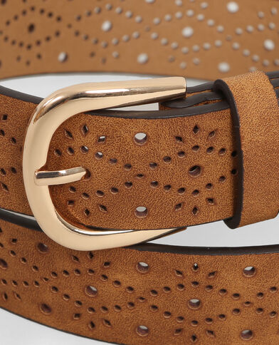 Cinturón perforado caramelo
