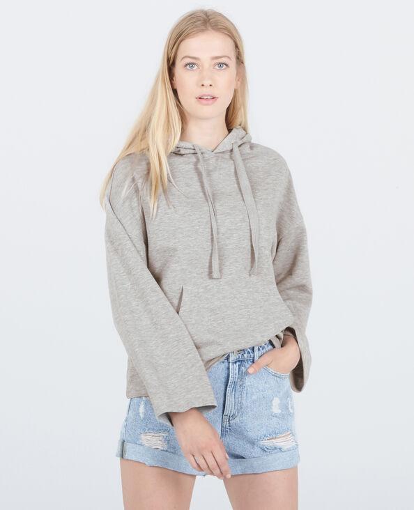 Felpa con cappuccio homewear grigio chiné