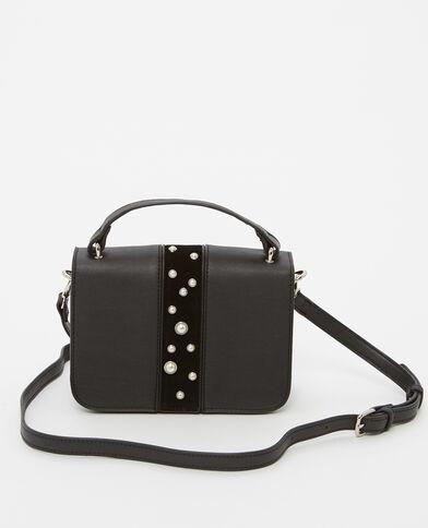 Kleine Tasche mit Perlen Schwarz
