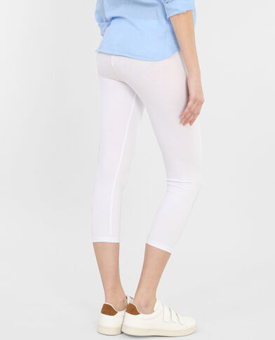 Legging court blanc