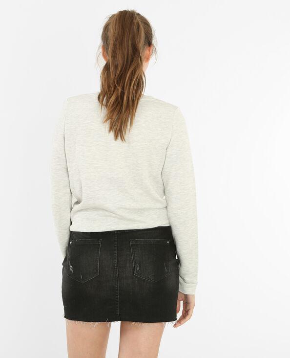 Sweatshirt mit Spitze Perlgrau