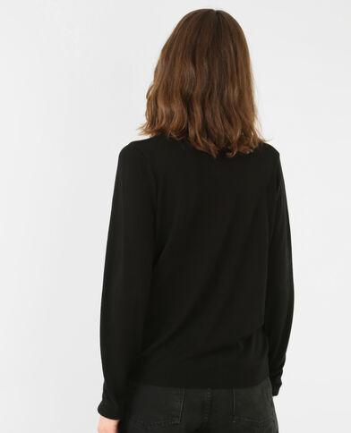Dunne trui met chokerkraag zwart