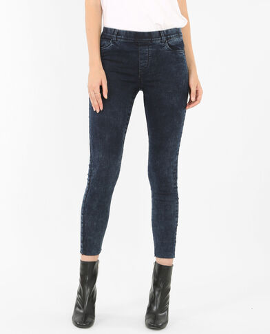 Jegging en jean bleu délavé