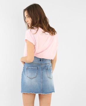 T-shirt met strook in luipaardprint Roze