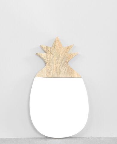 Spiegel Ananas aus Holz Taupebeige