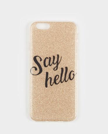 Coque glitter compatible iPhone doré
