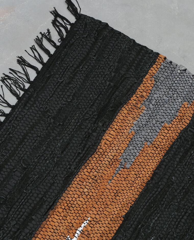 tapis tiss en cro te de cuir noir 955043899g0a pimkie. Black Bedroom Furniture Sets. Home Design Ideas