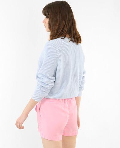Korte trui blauw