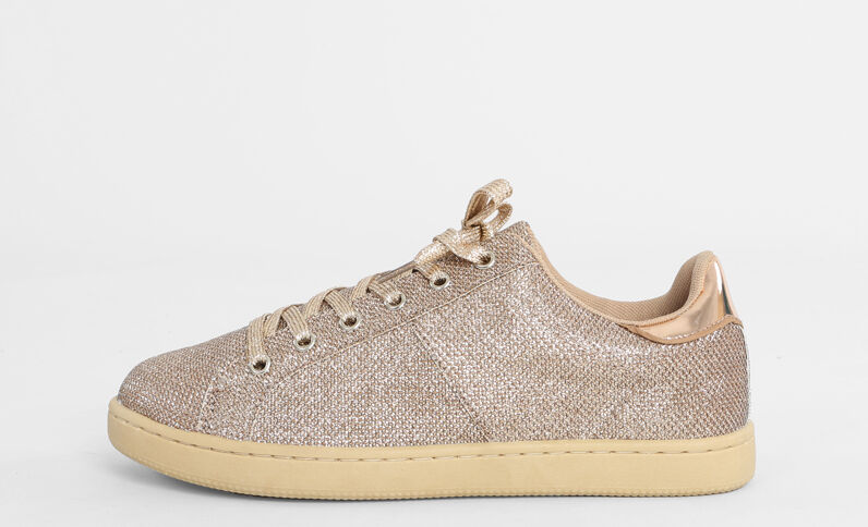 Scarpe da basket glitter dorato